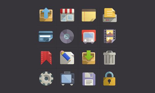 Flat Design Icons Set
