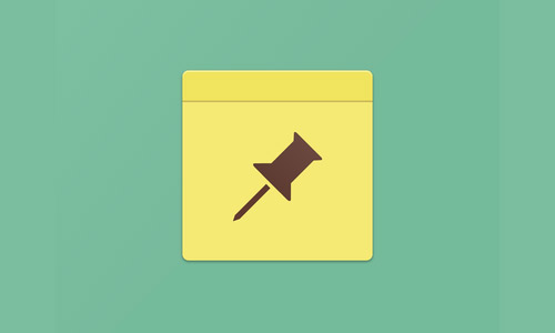 Flat Notes Icon and Ideas