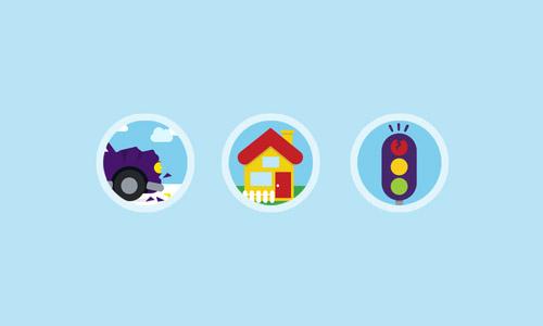 Flat icon Illustrations