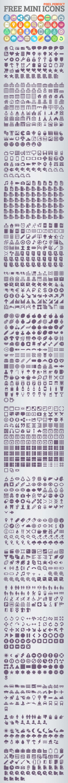Free Mini Flat Icons