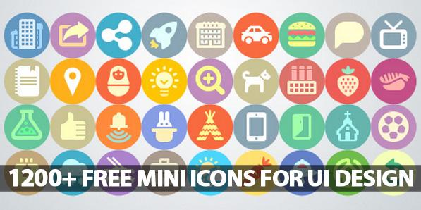 1200+ PixelPerfect Free Mini Icons, Best For UI Design