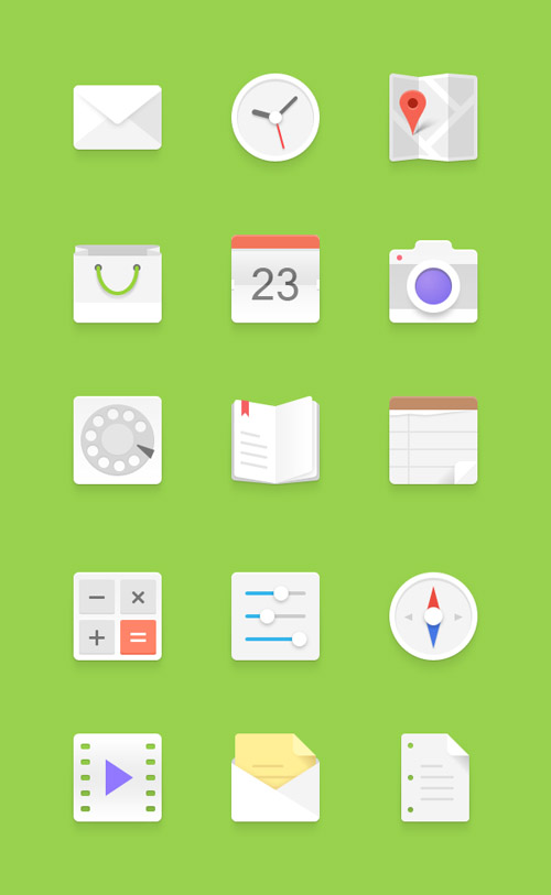Light Android Flat Icons