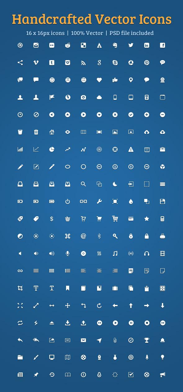 200 Beautiful Vector Icons Set
