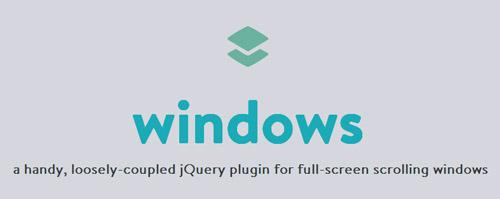Windows: Full-Screen Scrolling Window with jQuery