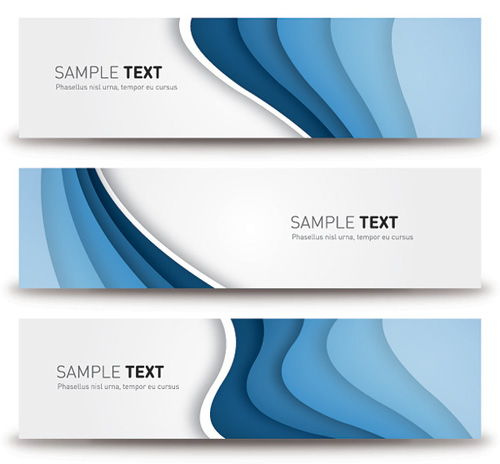 Blue Banners Vector Graphics