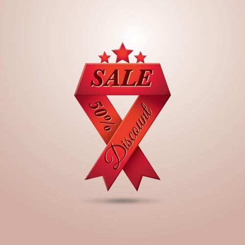 Sale Ribbon Vector Graphic