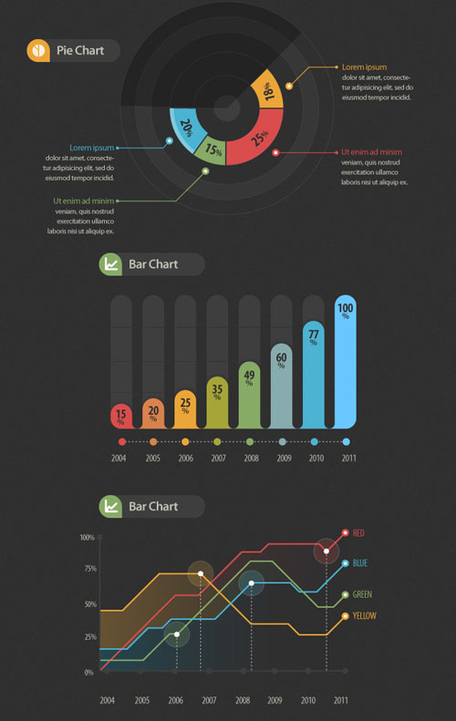 Infographic Vector Elements Graphics
