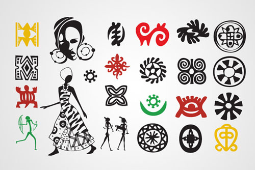 African Symbols  and Signs Vectors Graphics