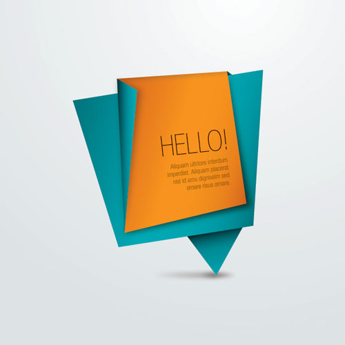 Origami Paper Message Vector Graphics
