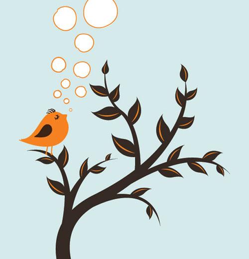 Spring Bird Vector Graphics