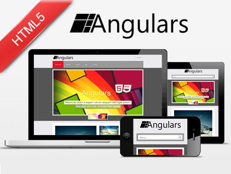 Angulars Win8 Style Responsive Website Template