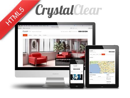 Crystal Clear HTML Template Built with Bootstrap