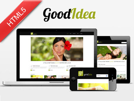 GoodIdea HTML5/CSS3 Responsive Web Template