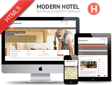 Modern Hotel – Responsive HTML5 Template