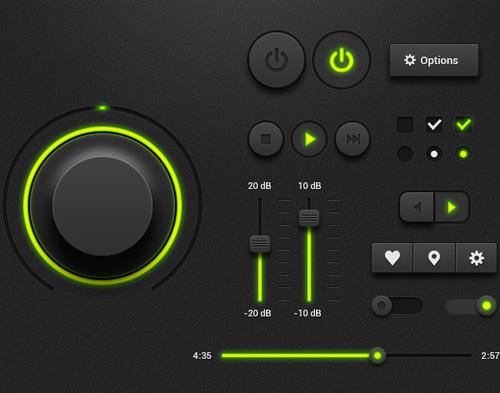 Dark Music Player UI Kit