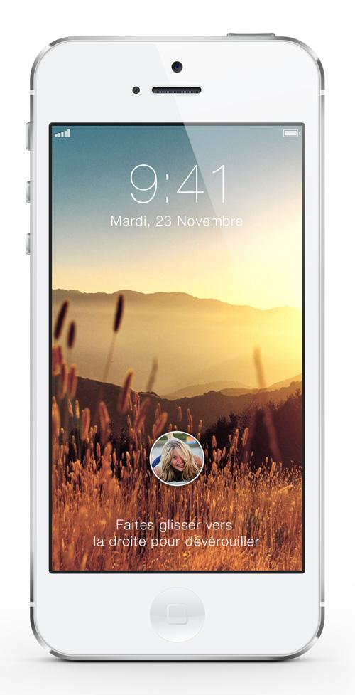 IOS 7 Lockscreen Concept