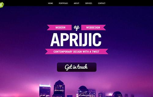Single Page Website Designs