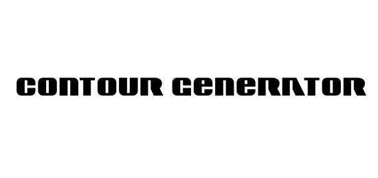 Contour Generator Fonts