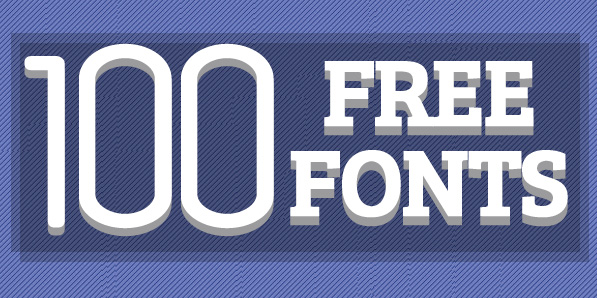 100 Professional Free Fonts For Designers