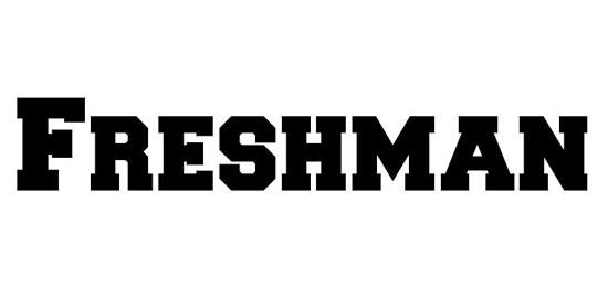 Freshman Fonts