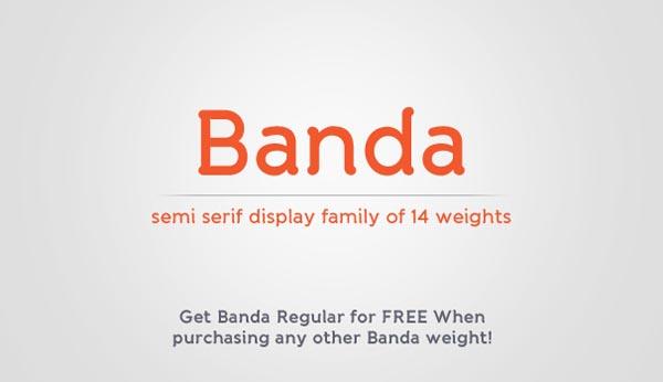 Banda – Regular Free Font