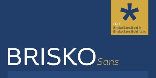 Brisko Sans Free Font