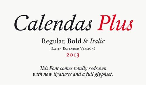 Calendas plus Free Font