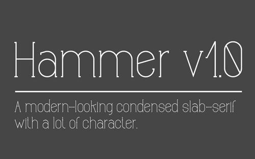 Hammer Free Font