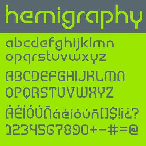 Hemigraphy Font