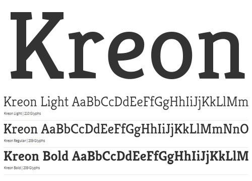 Kreon Free Font