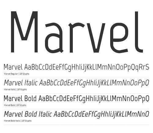 Marvel Free Font
