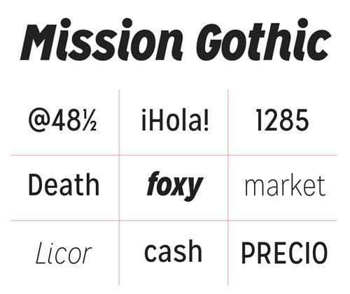 Mission Gothic