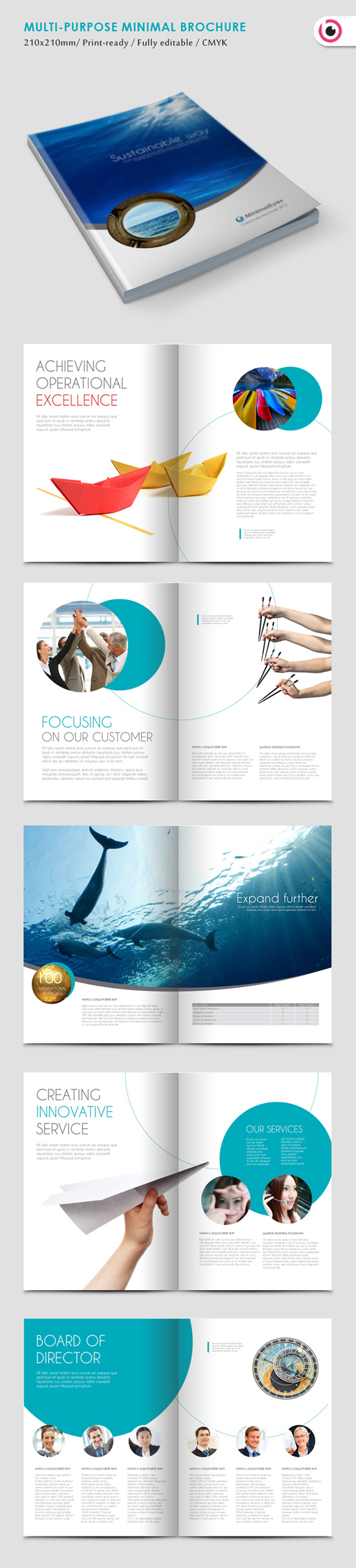 Multi-Purpose Minimal Brochure Template