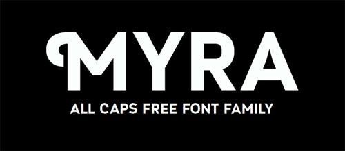 Myra free font
