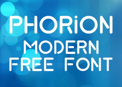 Phorion Modern Free Font
