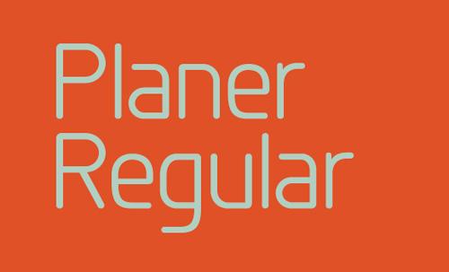 Planer Regular free Font