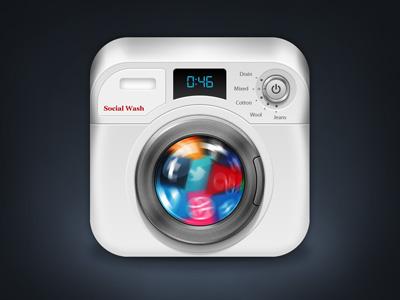 Washing Machine iOS Icon