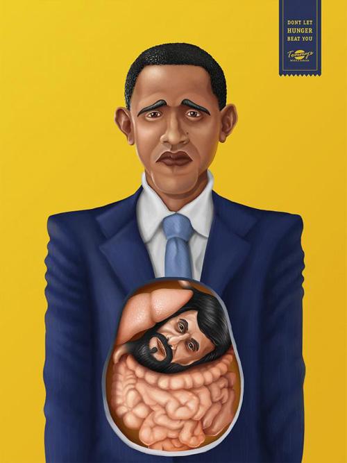 Tommys Diner & Burger: Obama Advertising Poster-15