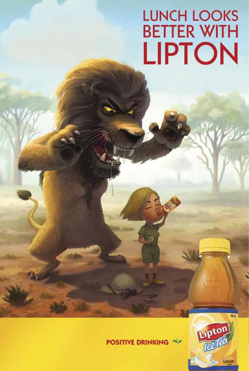 Lipton Ice Tea: Lion Advertising Poster-24
