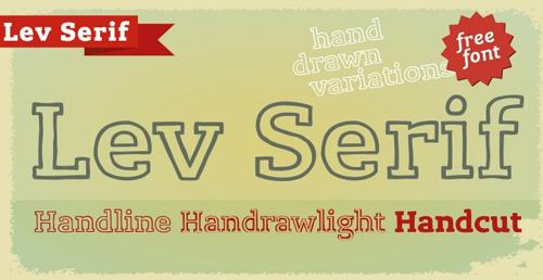 Lev Serif Handline free fonts