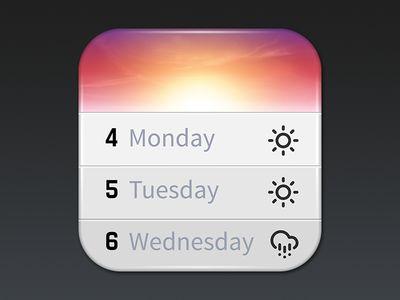 iOS App Icon Design: Horizon Calendar