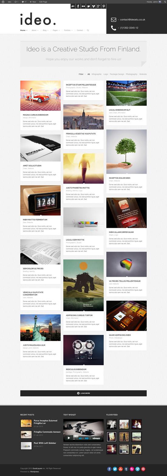 ideo - Minimalistic WordPress Portfolio Theme