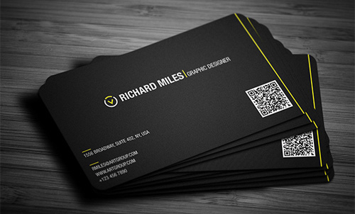 Business card with unique and professionally printed design