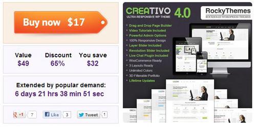 Creativo: A Responsive WordPress Theme