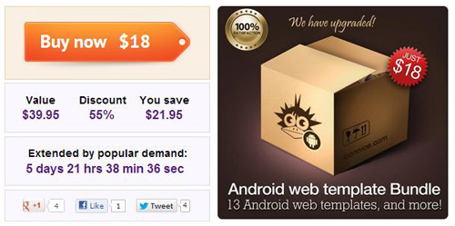 MEGA Android Bundle: Templates, Icons & more
