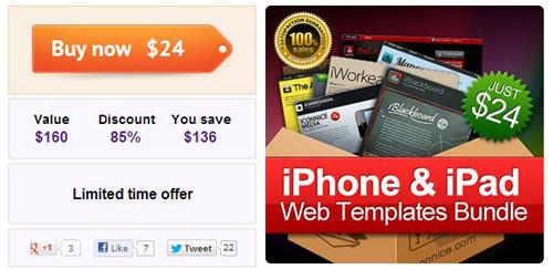 15 iPhone + iPad App Website Templates