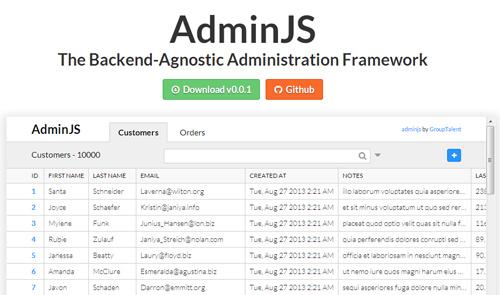 AdminJS: Backend Administration Framework