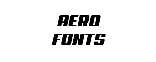 Aero Free Font