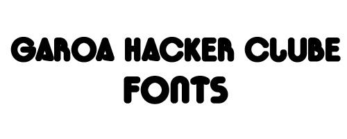 Garoa Hacker Clube Free Font