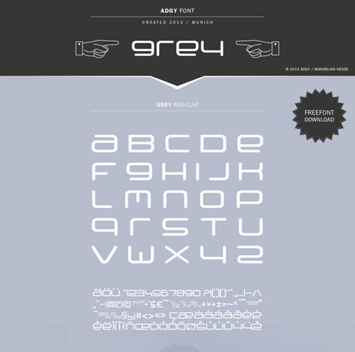Grey free font